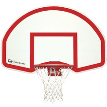 Gared Steel Fan Shaped Rear Mount Basketball Backboard - White