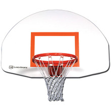 Gared Steel Fan Shaped Front Mount Basketball Backboard - White