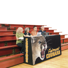 Bison 8' Sport Pride Scorers Table - Bleacher Model