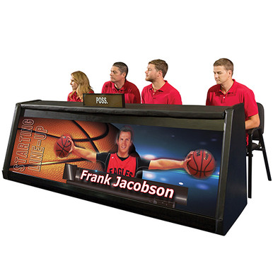 "BSN Digital Scorer's Table 8' 9"" - 4 St"