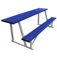 7.5' Scorer's Table With Bench (colored)