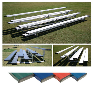 4 Row 7.5' Low Rise Bleacher - Colored 2