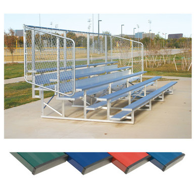 4 Row 15' Powder Coated Bleachers 1