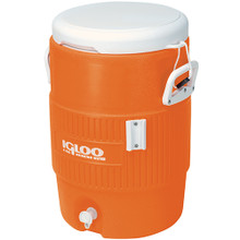 Igloo® 5 Gallon Orange Cooler w/Seat Lid