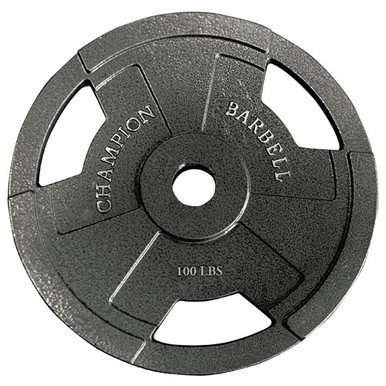 Olympic Grip Plate 100LB **Available 7/15/20**