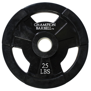 25lb. Olympic Rubber Coated Grip Plate  **Available 6/15/20**