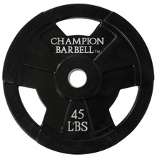 45lb. Olympic Rubber Coated Grip Plate  **Available 8/19/20**
