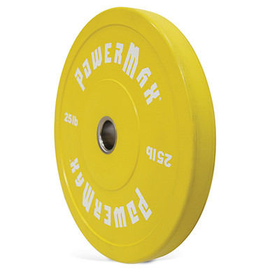POWERMAX 25LB Bumper Plate - Yellow