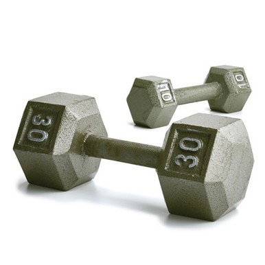 Hex Dumbbell w/ Straight Handle 30 lb  **Available 6/15/20**