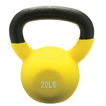 20lb Vinyl Coated Kettlebell YELLOW **Available 8/3/20**