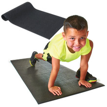 Black Pebble Finish Aerobic Mat