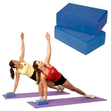 "Yoga Blocks 4"" - Blue"
