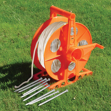 Twine reel with 500 feet of heavy duty polyester rope