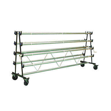 Gym Floor Cover Mobile Storage Rack - 6 Rollers