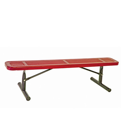 6' Park Bench w/o Back-Portable Perf.