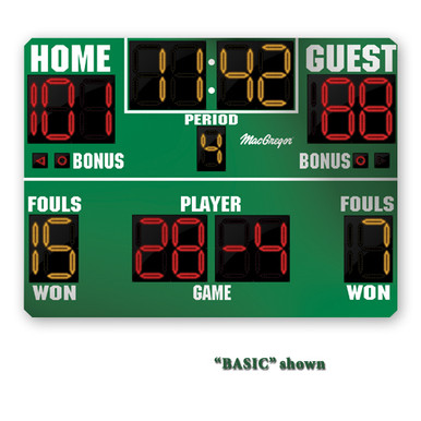 BSN SPORTS 8' x 6' Basketball Scoreboard w/ Double Bonus