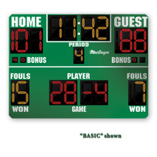 BSN SPORTS 8' x 5' Basketball Scoreboard w/ Double Bonus & Timeouts Left
