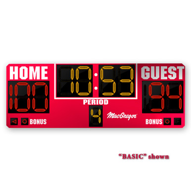 BSN SPORTS 8'x3' Indoor Scoreboard w/ Double Bonus