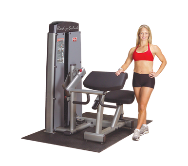 Dual Bi/Tricep Machine,  FREESTANDING, W STACK