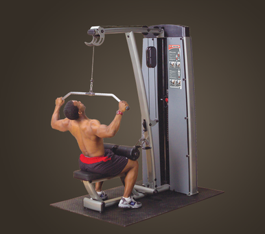 DUAL LAT/ROW-MACHINE, FREESTANDING 210LB STACK