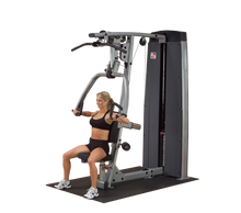 DUAL PRESS/LAT STATION-MACHINE, FREESTANDING 210LB STACK