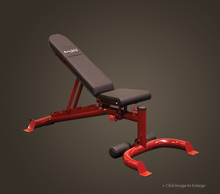 FLAT/INCLINE/DECLINE BENCH, RED FRAME