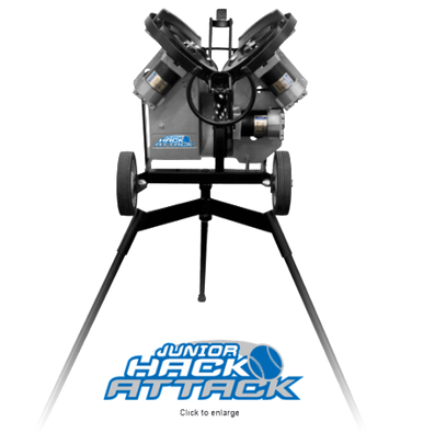 Junior Hack Attack Baseball Pitching Machine w/Extended Legs