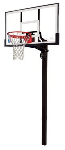 "Spalding 54"" Glass In-Ground Basketball Hoop System"
