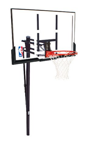 "Spalding NBA 52"" Acrylic Pro Glide In-Ground Hoop System"