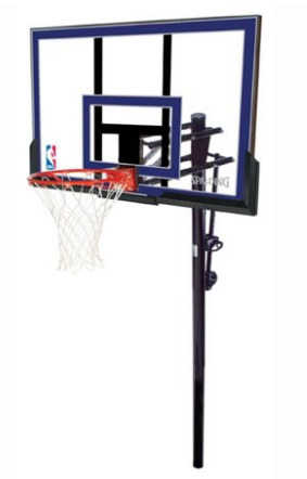 "Spalding NBA 50"" Acrylic Exactaheight Lift In-Ground Hoop System"