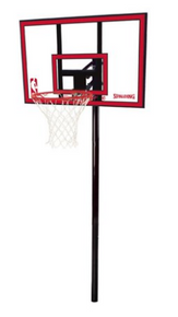 "Spalding NBA 44"" Polycarbonate Ratchet Lift In-Ground Hoop System"