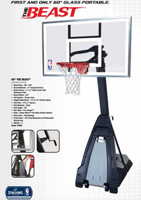 """The Beast"" Spalding Portable Basketball System"