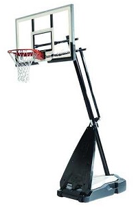 Spalding Ultimate 54-inch Glass Backboard Portable Basketball Goal
