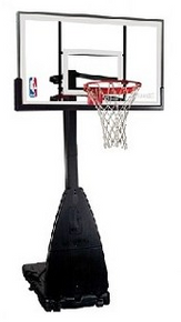 Spalding Portable Basketball Hoops 54 inch Glass Backboard Goal System