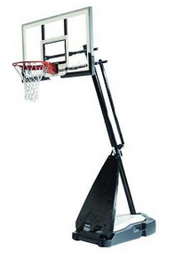 Spalding 71562 Ultimate Hybrid Base 60-inch Portable Basketball System