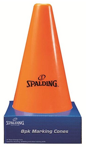 Spalding 8 Pack Orange Cones 9""