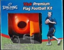 Spalding Flag Football Kit; 10 Pack Flags, 8 Discs, , Bean Bag Marker, Mesh Bag