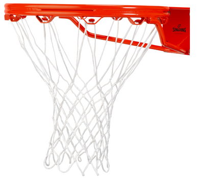 Spalding All Weather Basketball Net; White, Red/White/Blue, Black/White/Gray