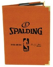 "Spalding 5""X7 NBA Padfolio Notebook - Orange"