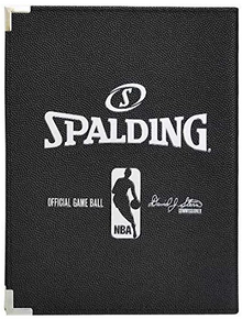 "Spalding 5""X7"" NBA Padfolio Notebook - 12 Pack - Black Cover"