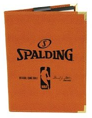"Spalding 5""X7"" NBA Padfolio Notebook - Orange Cover"
