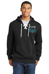 Sport-Tek Lace Up Hoodie Black