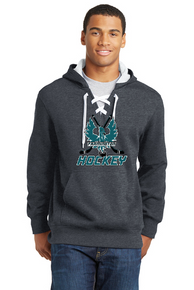 Sport-Tek Lace Up Hoodie Heather Gray