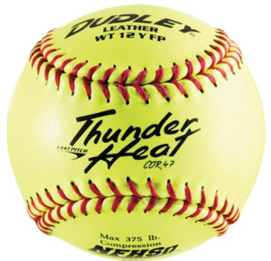 "Spalding/Dudley THUNDER HEAT 12"" COMPOSITE FAST PITCH SOFTBALL per dozen"