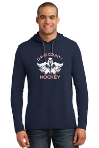 Men's Long Sleeve Hooded T-Shirt - Navy