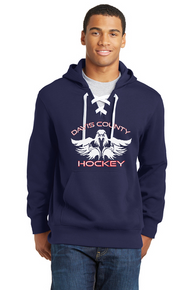 Lace Up Hoodie - Navy