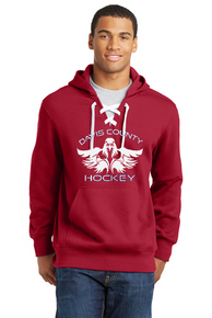 Lace Up Hoodie - Red