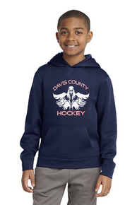 Youth Sport-Wick® Fleece Hoodie - Navy