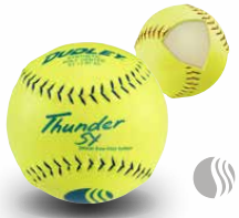 Dudley USSSA Thunder Heat Slow Pitch Classic M Stamp Softball - Synthetic Cover per dozen