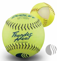 Dudley USSSA Thunder Heat Classic W Stamp Softball - Synthetic Cover per dozen